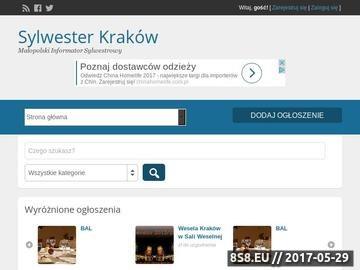 Zrzut strony Sylwester Kraków - Bal Sylwestrowy