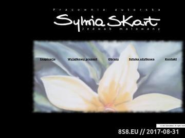 Zrzut strony SylwiaSKart - wyjatkowy, unikatowy, naturalny jedwab ręcznie malowany.
