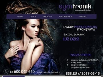 Zrzut strony Symtronik - projektowanie stron www