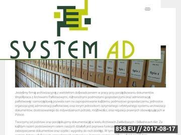 Zrzut strony SYSTEM Archiwizacja Danych