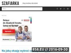 Miniaturka www.szafiarka.pl (Blog o modzie kobiecej)