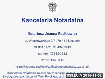 Zrzut strony Kancelaria Notarialna Joanna Radkiewicz