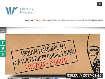 Zrzut strony WSP im. J. Korczaka w Szczecinie