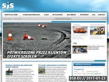 Zrzut strony Zapisz się na kurs kierowcy rajdowego w SJS