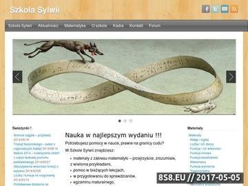Zrzut strony Szkoła Sylwii - nauka matematyki w najlepszym wydaniu!