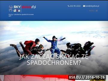 Zrzut strony Kursy spadochronowe