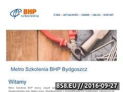 Miniaturka www.szkoleniabhp-bydgoszcz.pl (Szkolenia BHP i P.POŻ)
