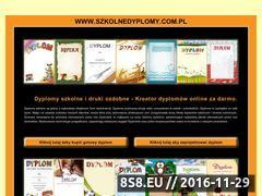 Miniaturka domeny www.szkolnedyplomy.com.pl