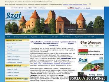 Zrzut strony Spływy kajakowe Rozpuda, wypożyczalnia kajaków, imprezy dla firm - SZOT.pl