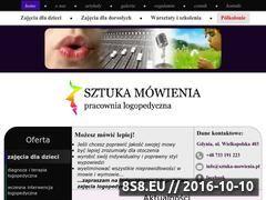 Miniaturka sztuka-mowienia.pl (Zajęcia logopedyczne)