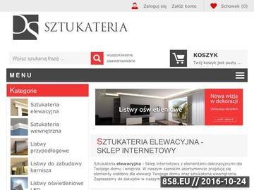 Zrzut strony Sztukateria elewacyjna i wewnętrzna Decor System - Producent sztukaterii.