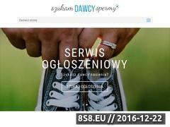 Miniaturka www.szukam-dawcy-spermy.pl (Dodawanie ogószeń pań poszukujących dawców)