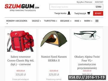 Zrzut strony Sklep Rowerowy SZUMGUM - rowery, części i akcesoria rowerowe.