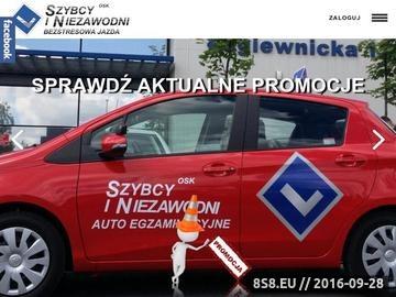 Zrzut strony Nauka jazdy Wrocław