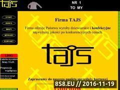Miniaturka domeny www.tajs.pl