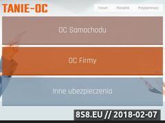 Miniaturka domeny tanie-oc.pl