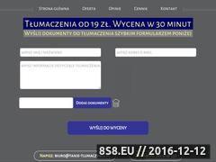Miniaturka domeny www.tanie-tlumaczenia.pl