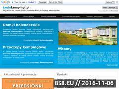 Miniaturka domeny www.taniekempingi.pl