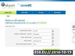Miniaturka domeny www.tanieoc.pl