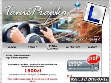 Zrzut strony Prawo jazdy Bielsko-Biała - OSK R.Majchrzak TaniePrawko.pl