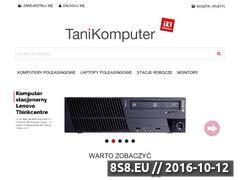 Miniaturka domeny www.tanikomputer.eu