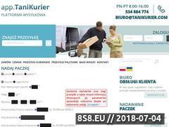 Miniaturka tanikurier.com (Portal do zamawiania usług kurierskich)