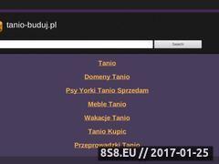 Miniaturka domeny www.tanio-buduj.pl