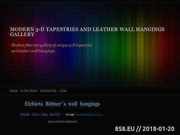 Zrzut strony Galeria tkaniny artysycznej Elzbiety Bittner