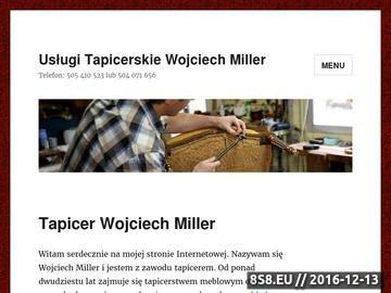 Zrzut strony Tapicer
