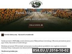Miniaturka Strona informacyjna zawierająca ofertę tartaku (tartak-elektryczny.eu)