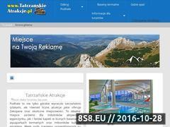 Miniaturka domeny www.tatrzanskieatrakcje.pl