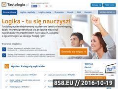 Miniaturka domeny www.tautologia.pl