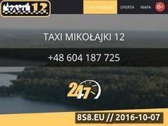 Miniaturka domeny www.taxi12mikolajki.pl