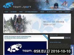 Miniaturka www.teamsport.krakow.pl (Tenis Kraków i szkoła pływania Kraków)