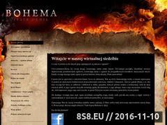 Miniaturka teatrognia.eu (Teatr Ognia Bohema - strona poświęcona pokazom fireshow)