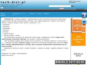 Zrzut strony Angielsko polski słownik naukowo techniczny