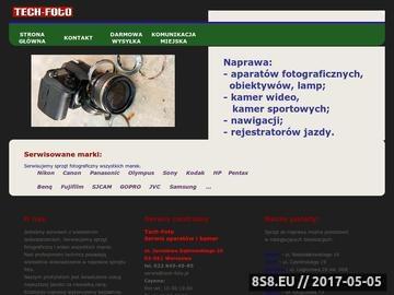 Zrzut strony Serwis aparatów fotograficznych