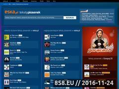Miniaturka teksty-piosenek.eska.pl (Teksty piosenek - tekst piosenki na Teksty-piosenek.eska.pl)