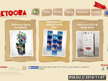 Zrzut strony Tektura + Reklama = Tektoora.com