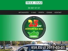 Miniaturka domeny www.tele-taxi.czest.pl
