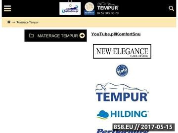 Zrzut strony Tempur Materace Sklep