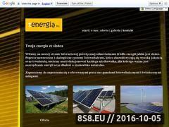 Miniaturka tenergia.eu (Firma działająca w branży energii odnawialnej)
