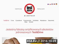 Miniaturka testanddrive.com (Producent alkotestów)