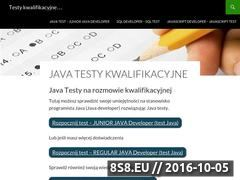 Miniaturka testykwalifikacyjne.pl (Testy kwalifikacyjne - programista Java)
