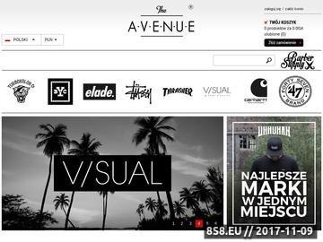 Zrzut strony The Avenue - sklep z ubraniami