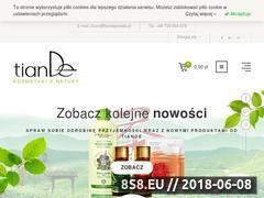 Miniaturka www.tiandepolska.pl (Naturalne kosmetyki i produkty tianDe)