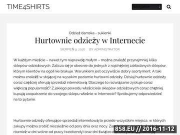 Zrzut strony Time4shirts.pl - śmieszne koszulki