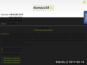 Zrzut strony Biuro tłumaczeń Szczecin i biuro tłumaczeń Warszawa