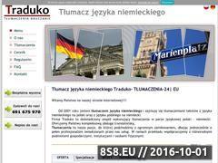 Miniaturka domeny www.tlumaczenia-24.eu