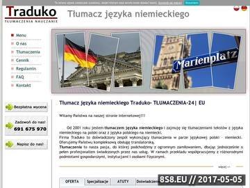 Zrzut strony Tłumacz języka niemieckiego